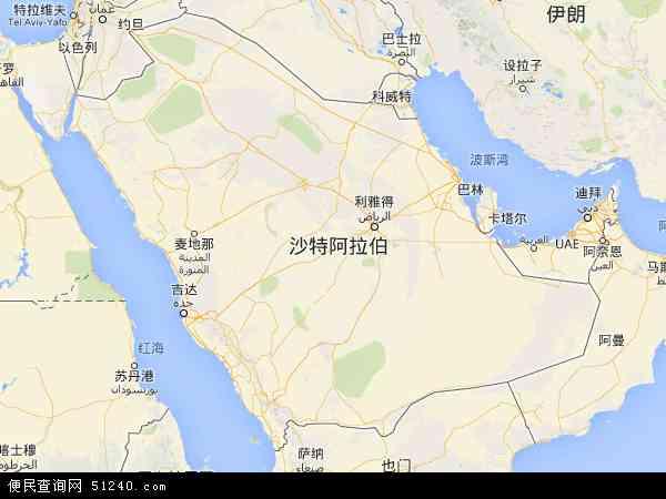 沙特阿拉伯地图 - 沙特阿拉伯电子地图 - 沙特阿拉伯高清地图 - 2016年沙特阿拉伯地图