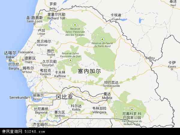 塞内加尔地图 - 塞内加尔电子地图 - 塞内加尔高清地图 - 2016年塞内加尔地图