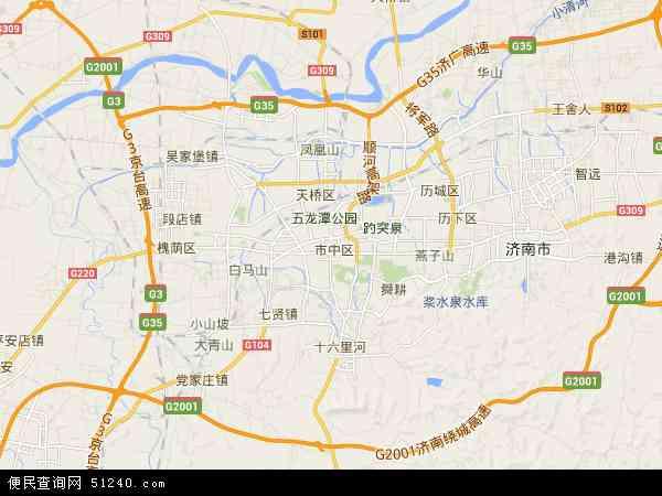市中区高清卫星地图 市中区2017年卫星地图 中国山东省济南市市中