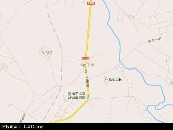 中国辽宁省鞍山市千山区汤岗子地图(卫星地图)