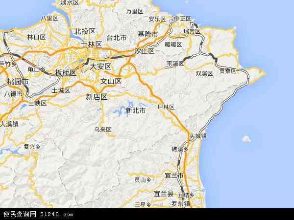 台北县高清地图 - 2014年台北县地图