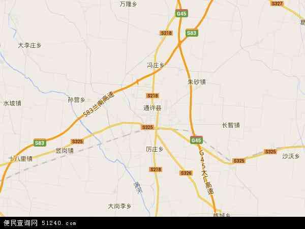 通许县地图 通许县卫星地图 通许县高清航拍地图 通许县高清卫星地图