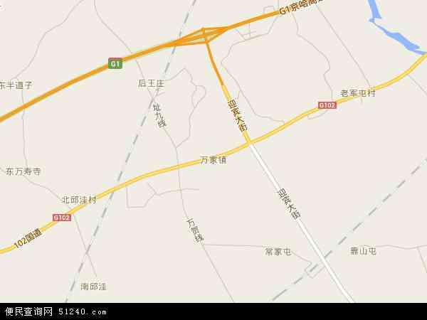 中国辽宁省葫芦岛市绥中县万家镇地图(卫星地图)