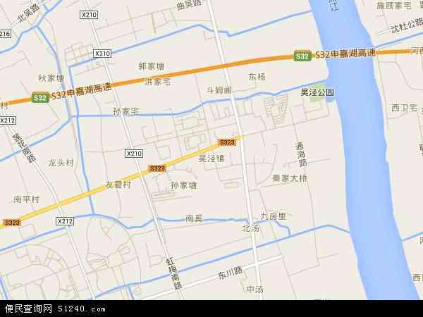 中国上海市闵行区吴泾镇地图(卫星地图)