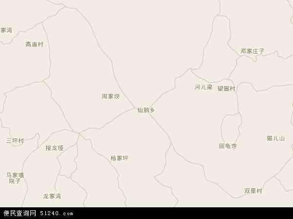 仙鹅乡地图 - 仙鹅乡电子地图 - 仙鹅乡高清地图 - 2016年仙鹅乡地图