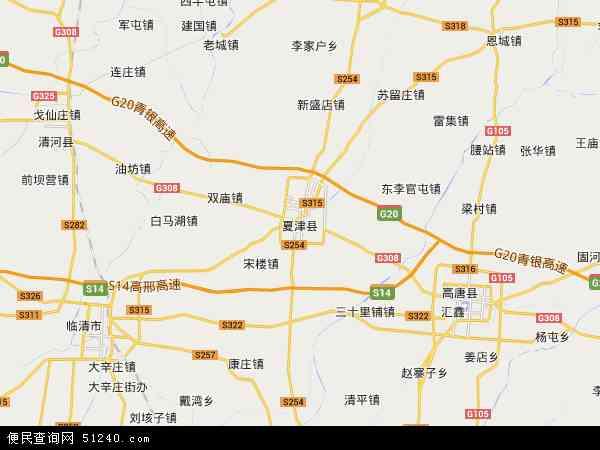夏津县渡口驿_夏津县地图 - 夏津县卫星地图 - 夏津县高清航拍地图