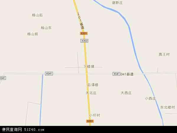 中国安徽省宿州市灵璧县下楼镇地图(卫星地图)