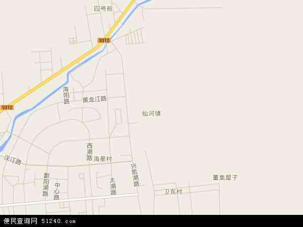 中国山东省东营市河口区仙河镇地图(卫星地图)