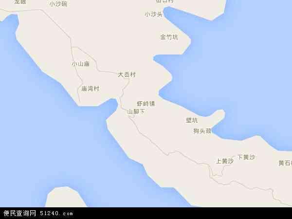 中国浙江省舟山市普陀区虾峙镇地图(卫星地图)