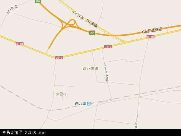 中国河北省张家口市怀来县西八里镇地图(卫星地图)图片