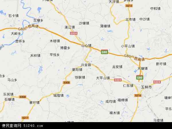 兴业县城区规划图