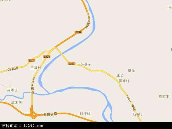 叶堡乡地图 - 叶堡乡卫星地图 - 叶堡乡高清航拍地图