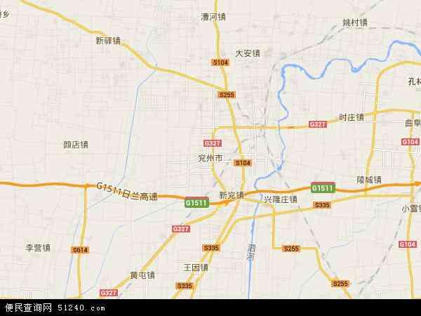中国山东省济宁市兖州市地图(卫星地图)