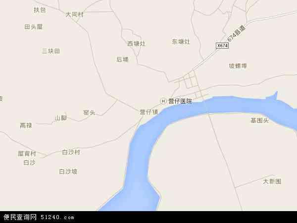 营仔镇地图 - 营仔镇电子地图 - 营仔镇高清地图 - 2018年营仔镇地图