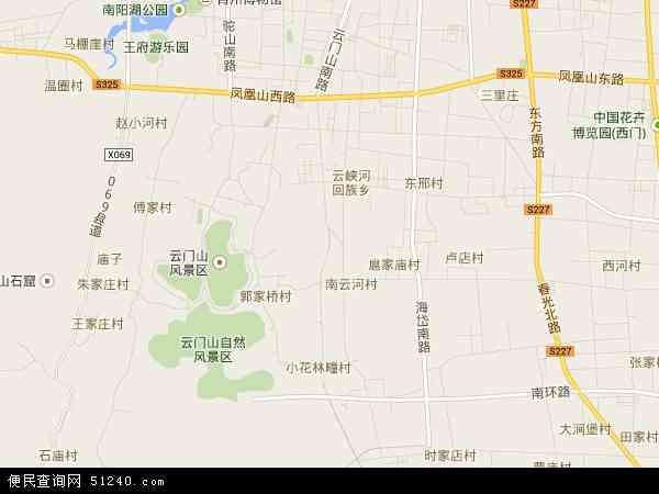 中国山东省潍坊市青州市云门山地图(卫星地图)