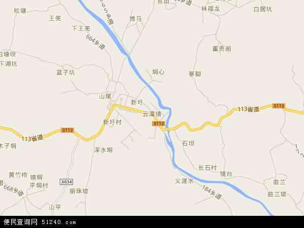 云秋山风景区地图