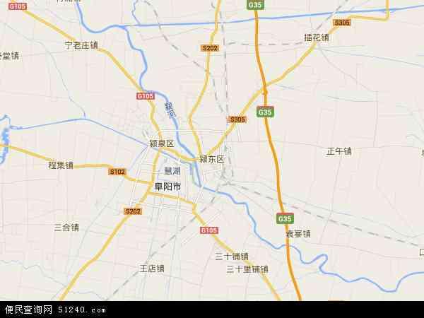 颍东区地图 - 颍东区卫星地图