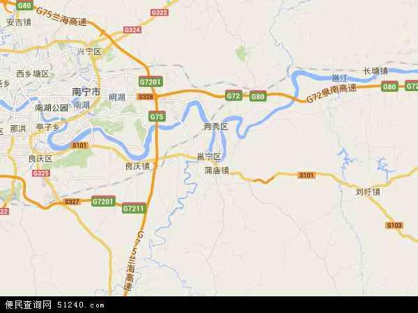 邕宁区地图 - 邕宁区卫星地图