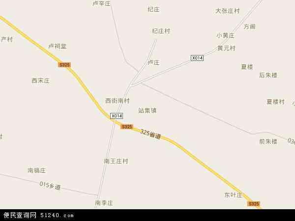 站集镇地图 - 站集镇电子地图