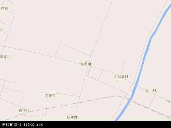 中国河南省新乡市长垣县赵堤镇地图(卫星地图)