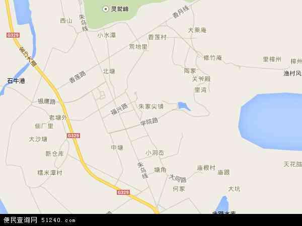 中国浙江省舟山市普陀区朱家尖地图(卫星地图)