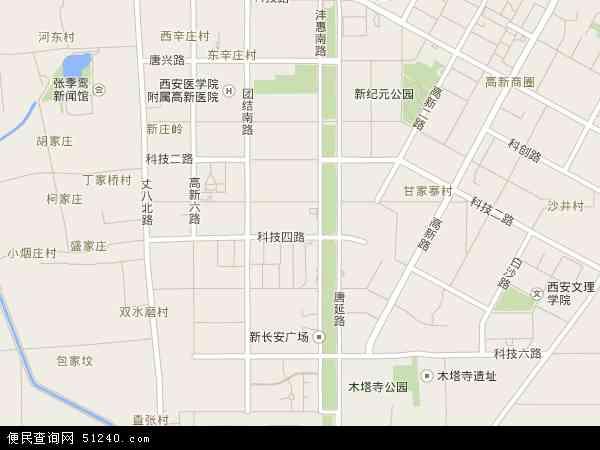 中国陕西省西安市雁塔区丈八沟地图(卫星地图)