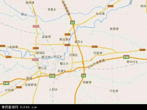 中国河南省漯河市召陵区地图(卫星地图)