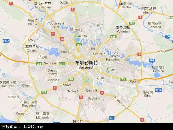 布加勒斯特地图 - 布加勒斯特电子地图