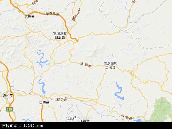 中国河北省秦皇岛市青龙满族自治县八道河镇地图(卫星地图)