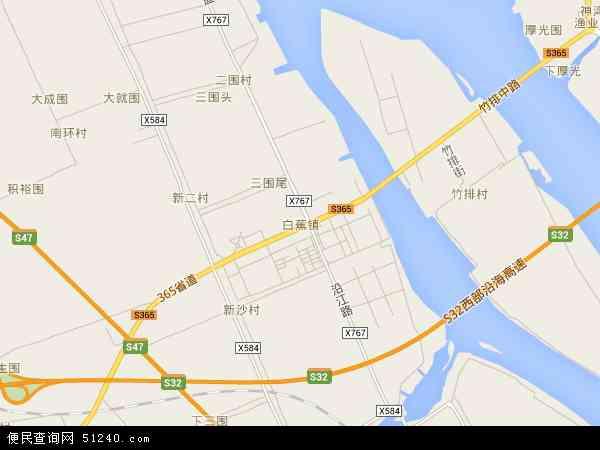 白蕉镇地图 白蕉镇卫星地图 白蕉镇高清航拍地图 白蕉镇高清卫星地图