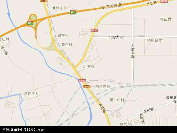 中国河北省秦皇岛市海港区北港镇地图(卫星地图)