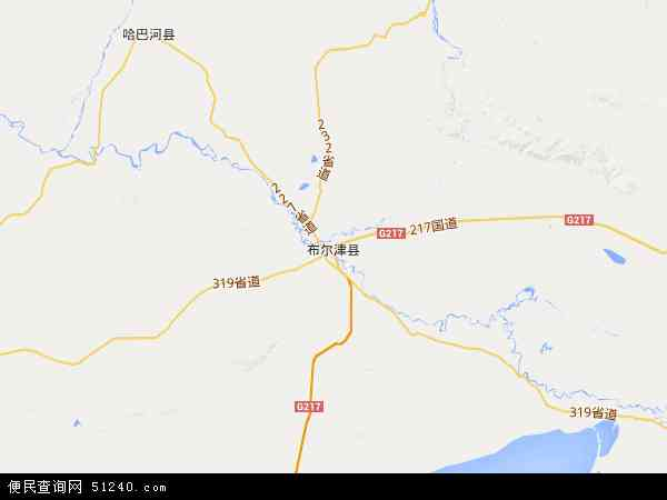 布尔津县地图 - 布尔津县卫星地图