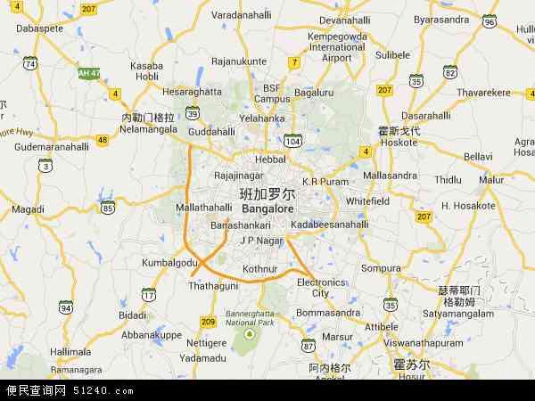 印度班加罗尔地图(卫星地图)