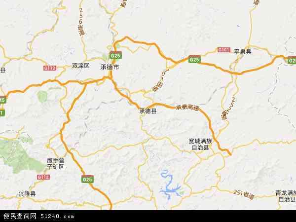 2017承德县地图高清版,承德县电子地图,2016承德县地图 承德县地形图