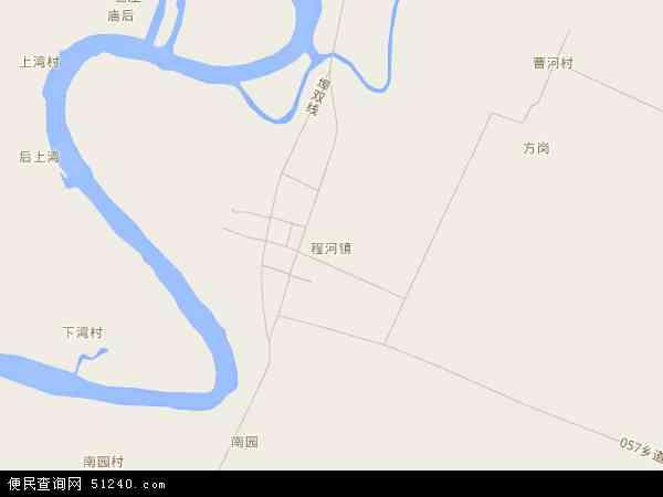 中国湖北省襄阳市襄州区程河镇地图(卫星地图)