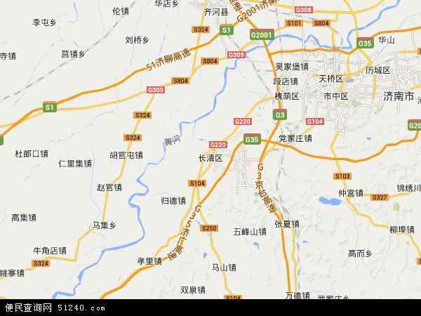 长清区2017年卫星地图 中国山东省济南市长清区地图