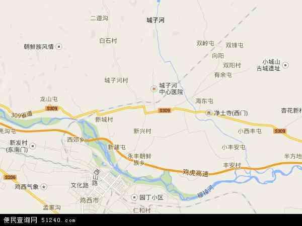 城子河区地图 城子河区卫星地图 城子河区高清航拍地图 城子河区高清