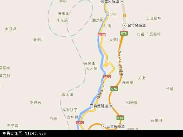 中国贵州省遵义市桐梓县大河镇地图(卫星地图)