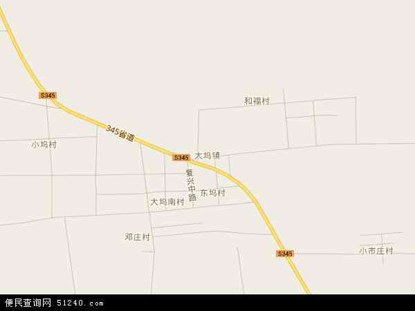 中国山东省枣庄市滕州市大坞镇地图(卫星地图)