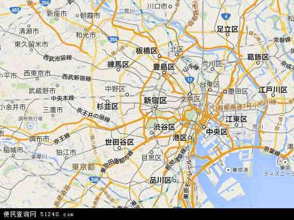 东京地图 - 东京卫星地图