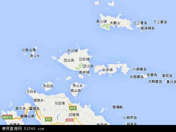 中国浙江省舟山市岱山县地图(卫星地图)