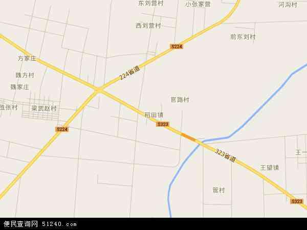 中国山东省潍坊市寿光市稻田镇地图(卫星地图)
