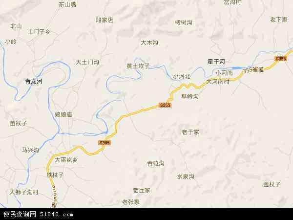 中国河北省秦皇岛市青龙满族自治县大巫岚镇地图