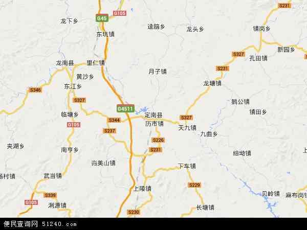 定南县地图 - 定南县卫星地图