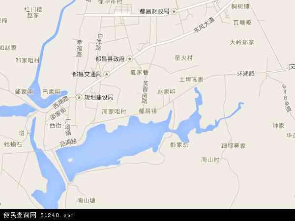 都昌镇地图 - 都昌镇卫星地图