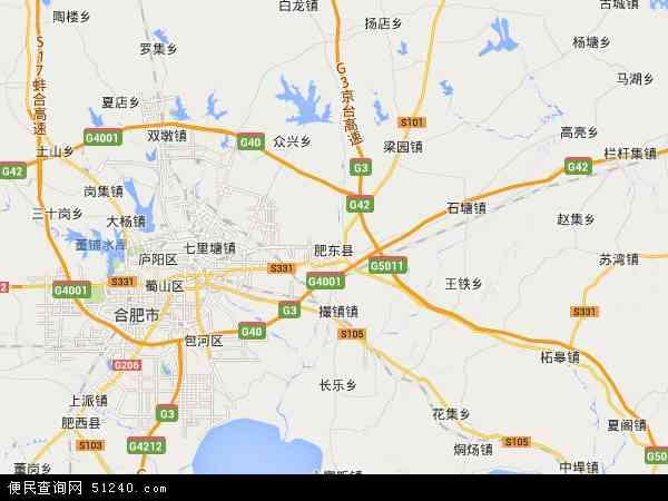 肥东县地图 - 肥东县卫星地图图片