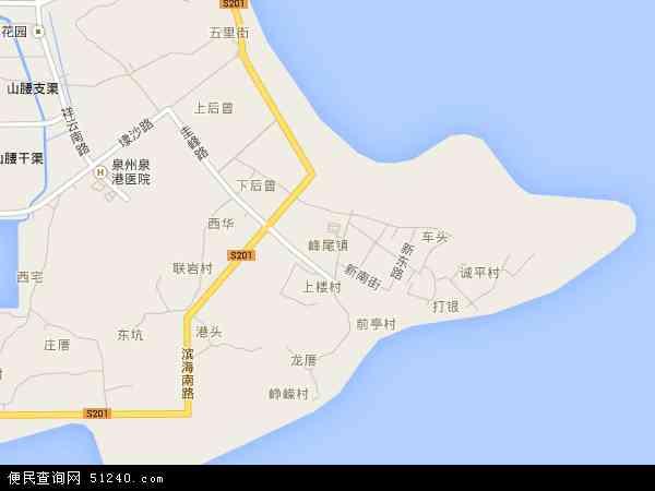 福建省 泉州市 泉港区 峰尾镇  本站收录有:2016峰尾镇卫星地图高清版
