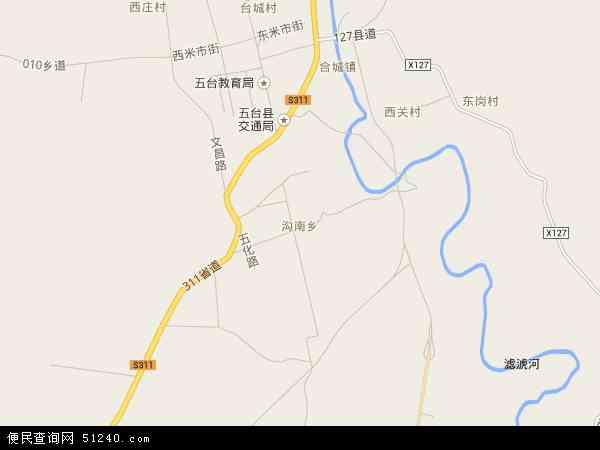 沟南乡地图 - 沟南乡电子地图