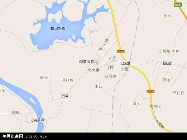 中国广东省阳江市阳春市硫铁矿地图 卫星地图