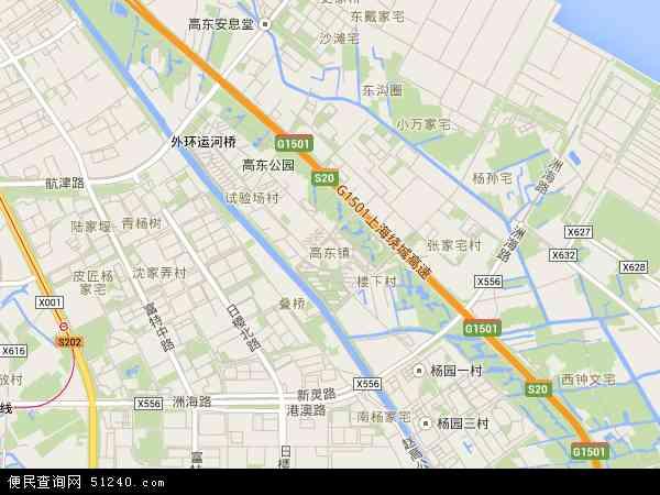 高东镇高清卫星地图 高东镇2017年卫星地图 中国上海市浦东新区高